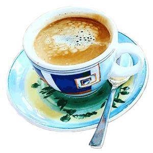Typische italienische Kaffee Spezialitäten und andere Getränke